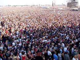 crowd at an outdoor music festival