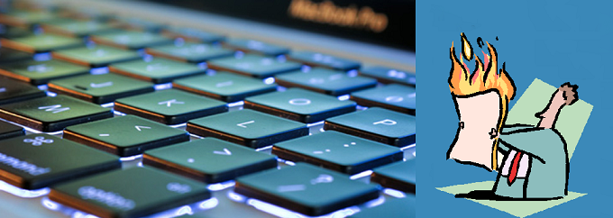 Computer keyboard in close-up