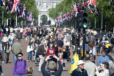 Crowd in The Mall, London
